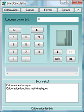 calculatrice linéaire de lambris